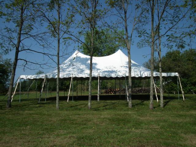 Tent Pole 30x45 White High Peak Rentals Lexington Ky
