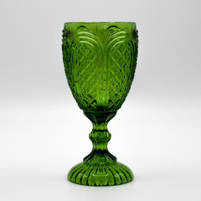 Where to find GLASS, GREEN VINTAGE GOBLET 11 OZ. in Lexington