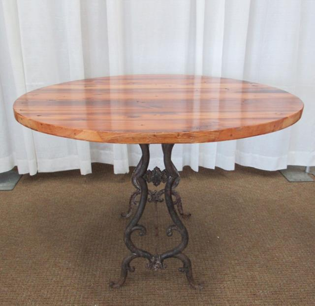 Where to find TABLE, WOOD WROUGHT IRON 4  ROUND in Lexington