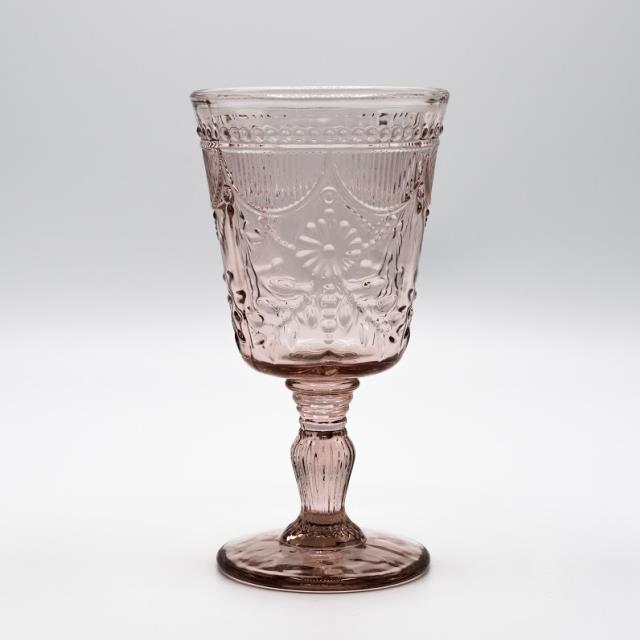 Where to find GLASS, PINK DEB GOBLET 10 OZ. in Lexington