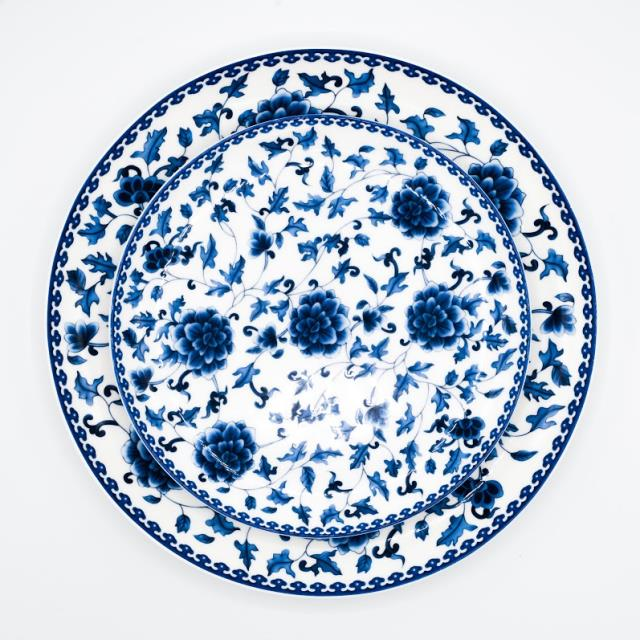 Rent Blue Floral China